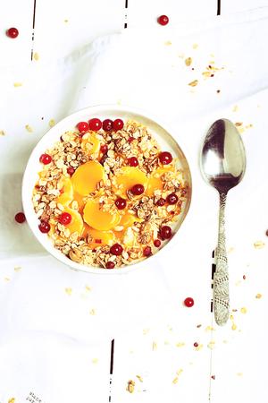 Muesli with fresh berries. healthy breakfast