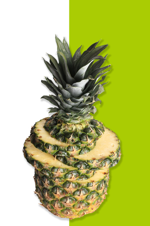 Creative layout pineapple Imagens