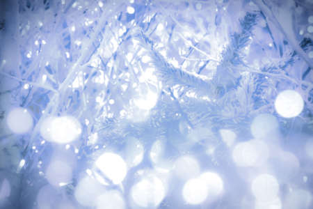 abstract blurry winter blue background