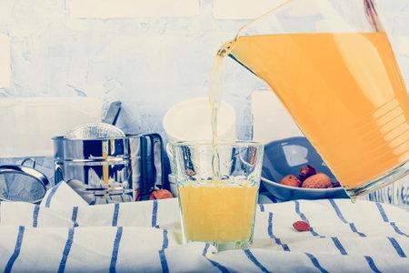 homemade citrus lemonade. ginger and rosemary orange lemonade