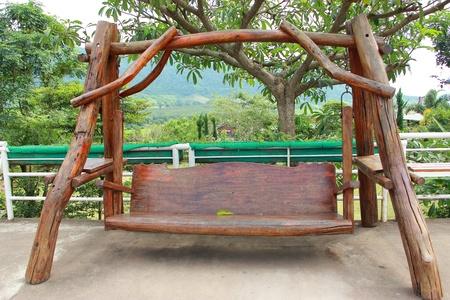 wooden swing Stock Photo - 11092547