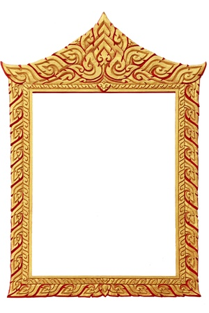 thai shape: Picture gold frame Thai style.