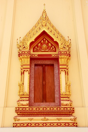 thai style temple windows photo