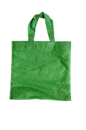 Green reusable fabric bag