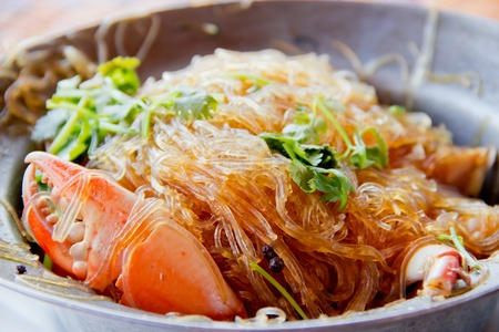 crab and vermicelli photo