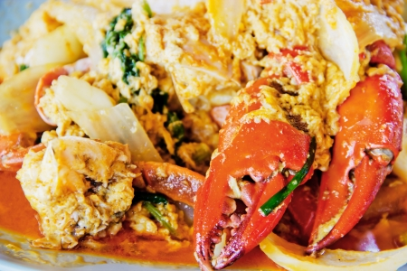 chili sauce: Thai cuisine,Fried crab with curry powder