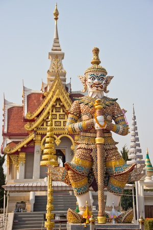 Statue of Thai giant guardian in the temple,Udonthani,Thailand photo