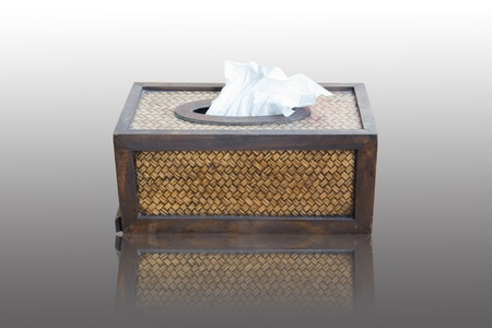 Tissue paper box made by basketry bamboo Stock Photo - 13029640