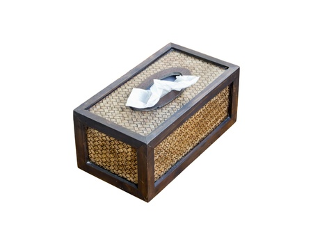 Tissue paper box made by basketry bamboo Stock Photo - 13070486