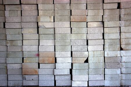 lightweight: Texture of stack of Lightweight brick Stock Photo