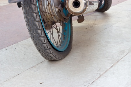 Flat tire motorcycle