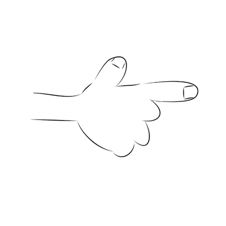 pointing right hand,cartoon Stock Vector - 19725681