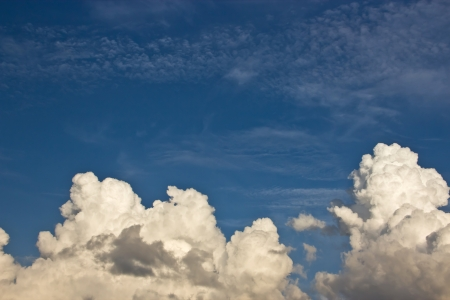 blue sky and cloud Stock Photo