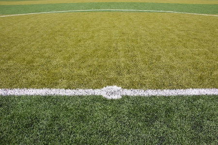 The center of soccer field Stock Photo