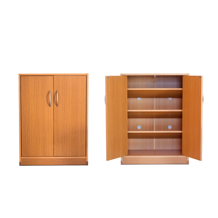 office cabinet: wooden Furniture - isolated wooden shoe closet, cabinet
