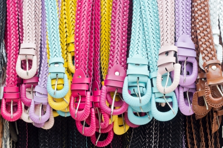 colorful woven belts