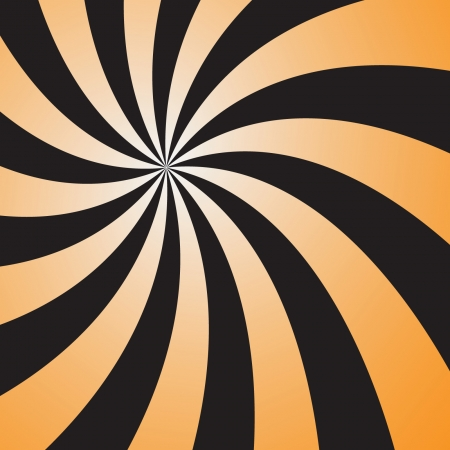 Abstract twirl orange and black color