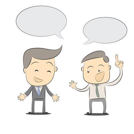 Cartoon two businessmen discussing,Vector illustration 일러스트