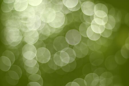 Green bokeh light. Abstract Christmas background