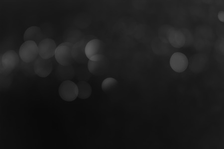 photographic effects: Abstract bokeh background (black and white shot) Stock Photo