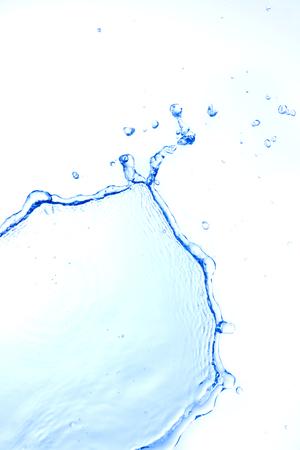 white water: water splash isolated on white background