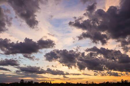 beautiful sunrise sky with cloud Stock Photo