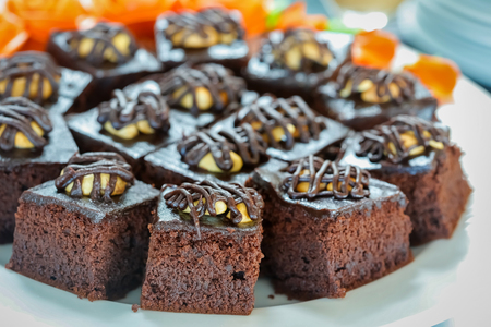 crave: close up shot of sweet delicious brownies