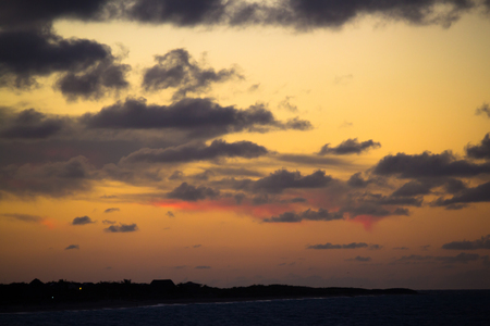 Beautiful sunset in the Caribbeans Stock Photo