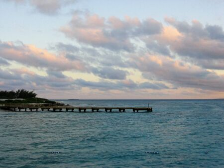 Zonsondergang in Montego Bay Jamaica stock foto's