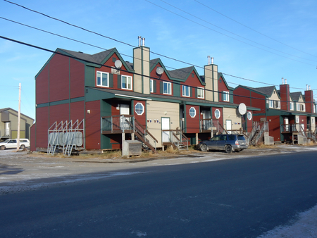 Cottage houses provided to workers in Kuujjuaq