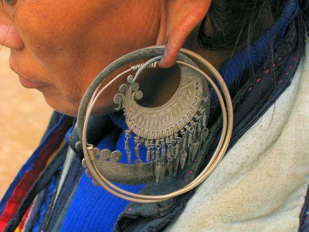ear ring: vietnam Stock Photo