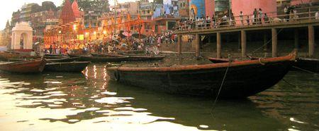 benares: boat Stock Photo