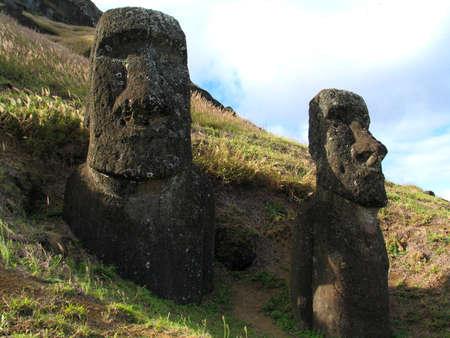 isla: moai Stock Photo