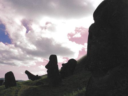 moai: moai Foto de archivo