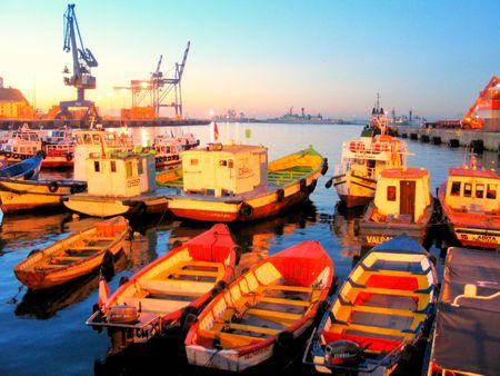 valparaiso: boats