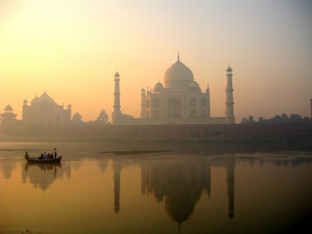 Taj Mahal palace in India on sunset Stock Photo - 4644380