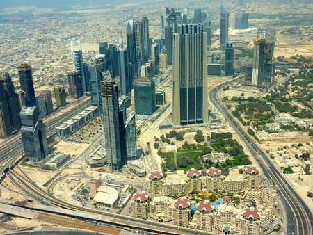 Burj Khalifa views Stock Photo
