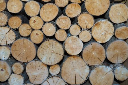 outdoor fireplace: Pile of wood for the fireplace
