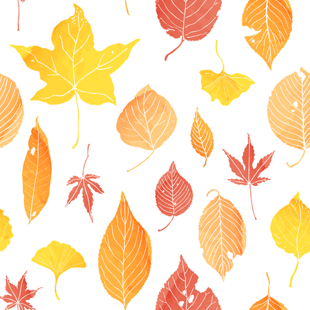 patern: seamless patern of autumn leaves