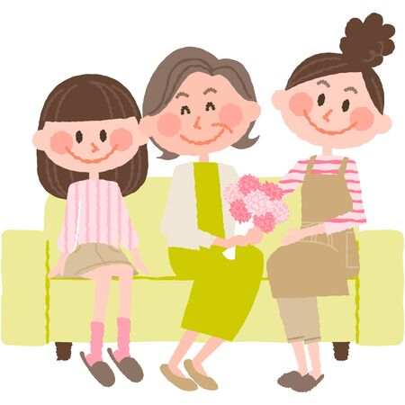 mothers day  イラスト・ベクター素材