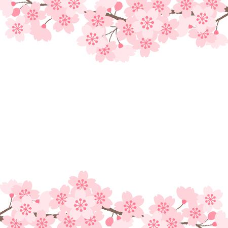 桜の花  イラスト・ベクター素材