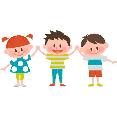 幸せな漫画の子供たち。
