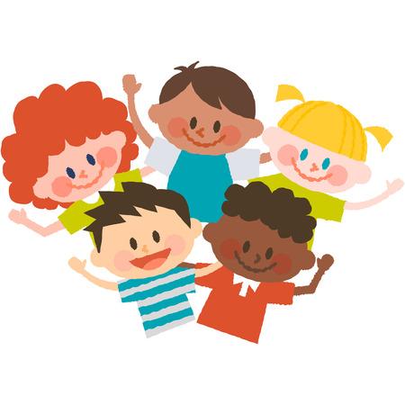 Cartoon world kids illustration.