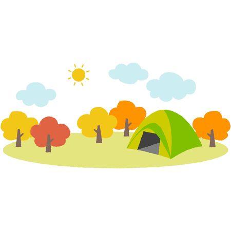 cute illustration of the campsite