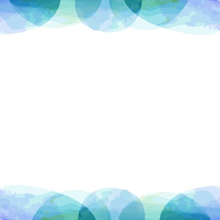 frame of pastel color watercolor painting texture by vector data