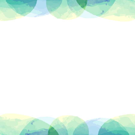 Frame of pastel color watercolor painting texture by vector data  イラスト・ベクター素材