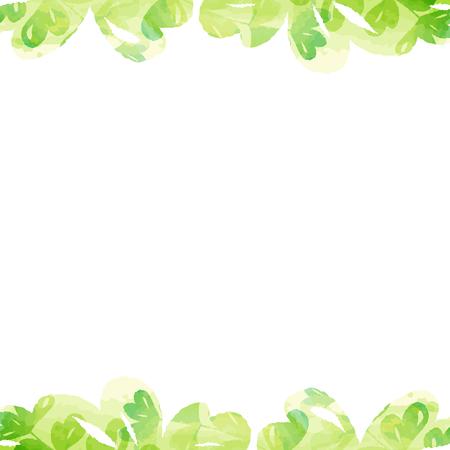 Pflanzen Rahmen von Pastellfarben Aquarellmalerei Textur von Vektordaten Standard-Bild - 73686912