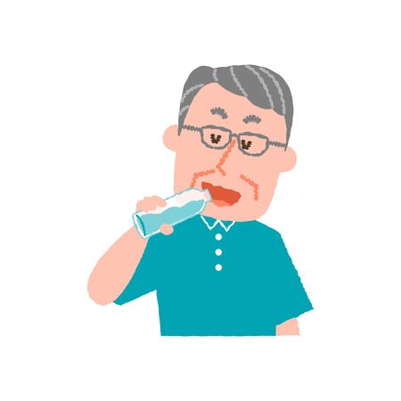 老人の飲料水のベクトル イラスト 写真素材 - 78838852