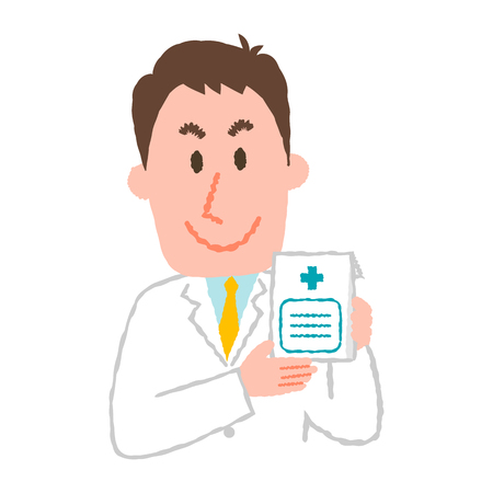 Vector illustration of a young male pharmacist 일러스트