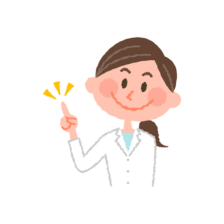 vector illustration of a young female pharmacist  イラスト・ベクター素材
